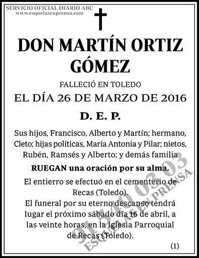 Martín Ortiz Gómez